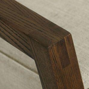Rocking chair en tissu mastic grisé - Harold - Visuel n°9