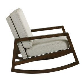 Rocking chair en tissu mastic grisé - Harold - Visuel n°3