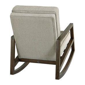 Rocking chair en tissu mastic grisé - Harold - Visuel n°4