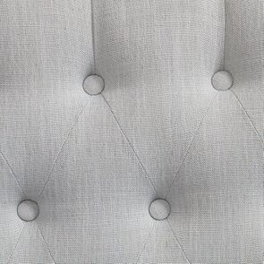 Banquette 2 places en tissu bleu glacier - Joséphine - Visuel n°7