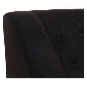 Banquette en tissu gris anthracite et hévéa massif noir - Joséphine - Visuel n°8