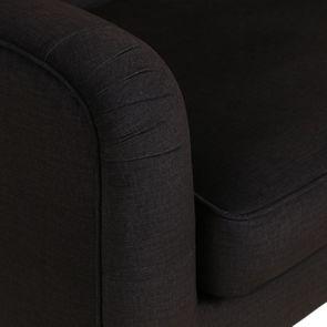 Banquette en tissu gris anthracite et hévéa massif noir - Joséphine - Visuel n°10