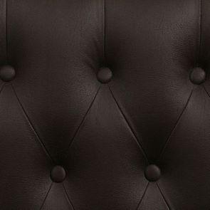 Banquette 2 places en éco-cuir chocolat - Joséphine - Visuel n°8