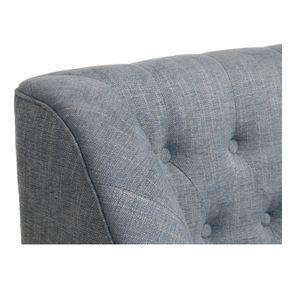 Banquette 2 places en tissu bleu chambray - Joséphine - Visuel n°29