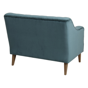 Banquette 2 places en tissu velours vert bleuté - Joséphine - Visuel n°6