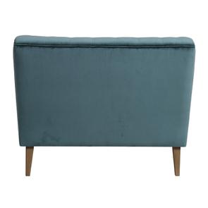 Banquette 2 places en tissu velours vert bleuté - Joséphine - Visuel n°7