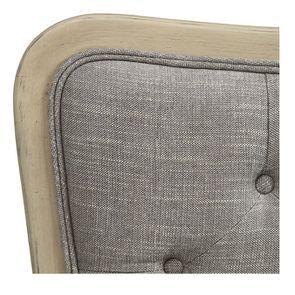 Tête de lit capitonnée 140/160 cm en frêne gris et tissu gris chambray - Joséphine