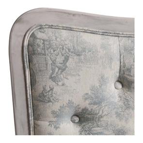 Tête de lit capitonnée 160 en hévéa et tissu toile de Jouy - Joséphine - Visuel n°4