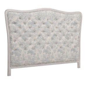 Tête de lit capitonnée 160 en hévéa et tissu toile de Jouy - Joséphine - Visuel n°2