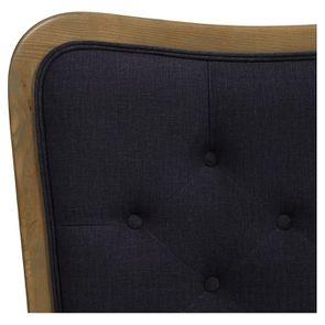 Tête de lit capitonnée 140/160 cm en frêne et tissu anthracite - Joséphine - Visuel n°7