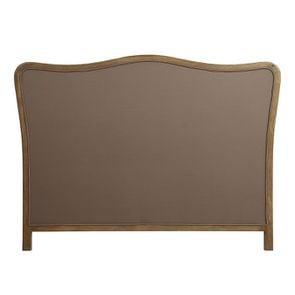 Tête de lit capitonnée 140/160 cm en frêne et tissu anthracite - Joséphine - Visuel n°4