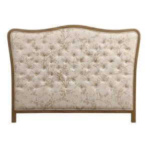 Tête de lit capitonnée 160 en chêne et tissu paradisier - Joséphine