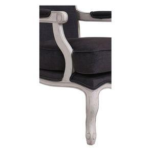 Fauteuil en tissu Anthracite et finition Château gris argenté - Auguste - Visuel n°7