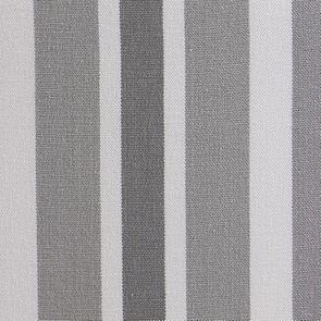 Fauteuil en tissu Bayadère gris et finition Château gris argenté - Auguste