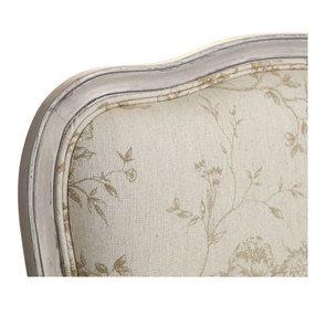 Fauteuil en tissu paradisier et frêne massif gris argenté - Auguste - Visuel n°8