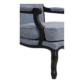Fauteuil en tissu velours bleu gris - Auguste - Visuel n°7