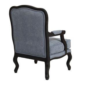 Fauteuil en tissu velours bleu gris - Auguste - Visuel n°3