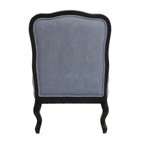Fauteuil en tissu velours bleu gris - Auguste - Visuel n°4
