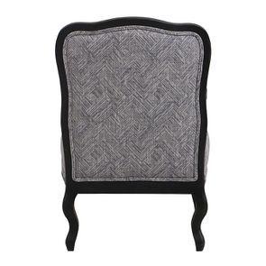 Fauteuil en tissu Mosaïque indigo et finition Noir - Auguste - Visuel n°3