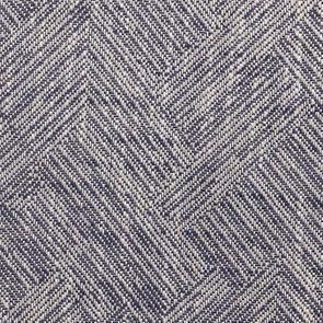 Fauteuil en tissu Mosaïque indigo et finition Noir - Auguste - Visuel n°4