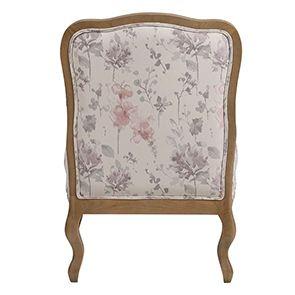 Fauteuil en tissu fleur opaline - Auguste - Visuel n°8