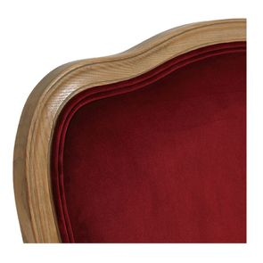 Fauteuil en tissu velours lie de vin - Auguste - Visuel n°8