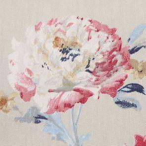 Fauteuil en frêne blanc et tissu fleuri - Auguste