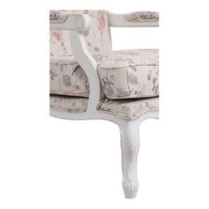 Fauteuil en tissu Fleurs Opaline et finition Romance blanc - Auguste - Visuel n°8
