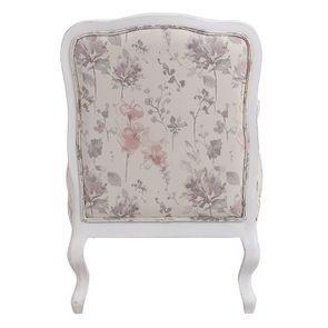Fauteuil en tissu Fleurs Opaline et finition Romance blanc - Auguste - Visuel n°4