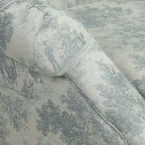 Fauteuil en tissu toile de Jouy et finition chêne - Raphaël - Visuel n°9