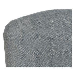 Fauteuil en tissu bleu chambray et frêne massif - Raphaël - Visuel n°8
