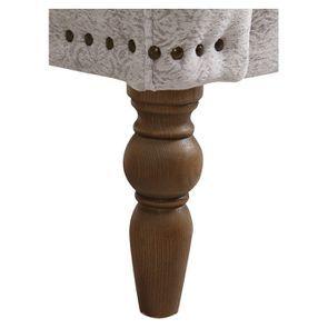 Fauteuil en tissu arabesque perle et finition chêne - Raphaël