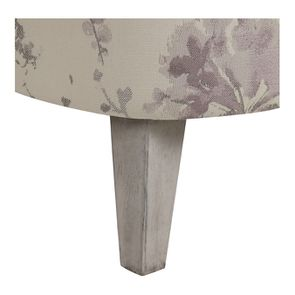 Fauteuil crapaud en tissu fleurs opaline - Victor - Visuel n°6