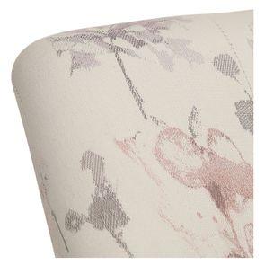Fauteuil crapaud en tissu fleurs opaline - Victor - Visuel n°8