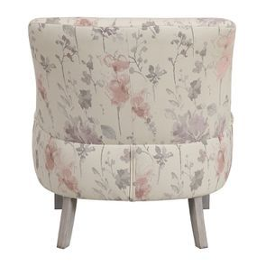 Fauteuil crapaud en tissu fleurs opaline - Victor - Visuel n°5