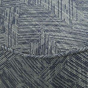 Fauteuil crapaud en tissu mosaïque indigo - Victor - Visuel n°8