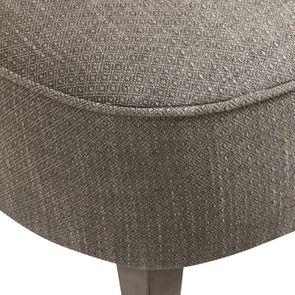 Fauteuil crapaud en tissu losange gris - Victor - Visuel n°17