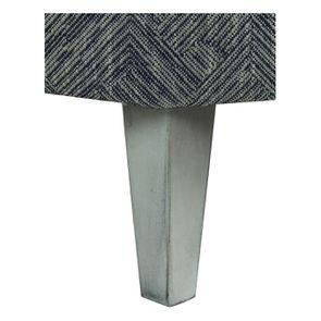 Fauteuil crapaud en tissu mosaïque indigo - Victor - Visuel n°2