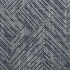 Fauteuil crapaud en tissu mosaïque indigo - Victor - Visuel n°3