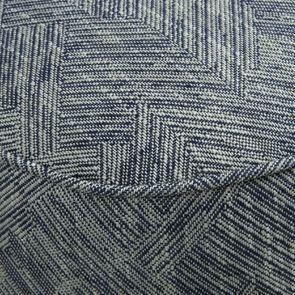 Fauteuil crapaud en tissu mosaïque indigo - Victor - Visuel n°4