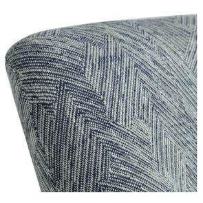 Fauteuil crapaud en tissu mosaïque indigo - Victor - Visuel n°5
