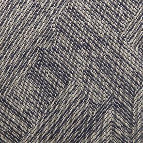 Fauteuil crapaud en tissu mosaïque indigo et pieds noirs - Victor - Visuel n°7