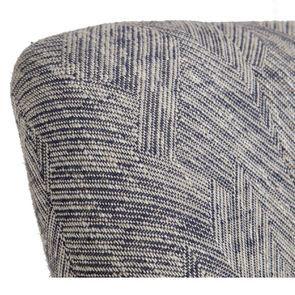 Fauteuil crapaud en tissu mosaïque indigo et pieds noirs - Victor - Visuel n°8