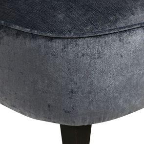 Fauteuil crapaud en velours bleu - Victor - Visuel n°9