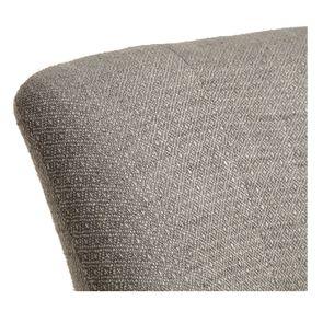 Fauteuil crapaud en hévéa noir et tissu losange gris - Victor - Visuel n°15