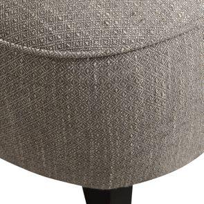 Fauteuil crapaud en hévéa noir et tissu losange gris - Victor - Visuel n°9