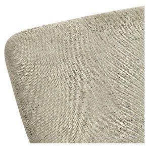 Fauteuil crapaud en hévéa noir et tissu mastic grisé - Victor - Visuel n°8