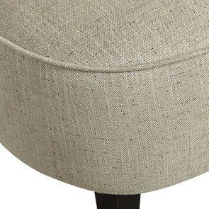 Fauteuil crapaud en hévéa noir et tissu mastic grisé - Victor - Visuel n°9