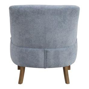 Fauteuil crapaud en velours bleu gris - Victor - Visuel n°7