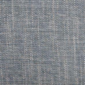 Fauteuil crapaud en tissu bleu chambray - Victor